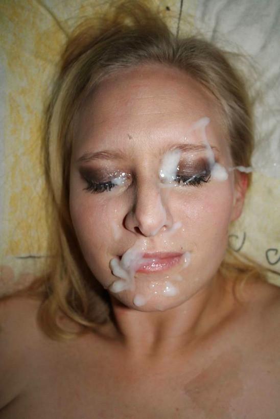 amateurs hot blonde girl cum facial