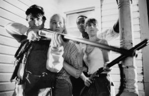 still-of-william-butler,-katie-finneran,-patricia-tallman-and-tony-todd-in-night-of-the-living-dead-(1990)