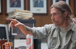 Matthew McConaughey in TRUE DETECTIVE, via HBO