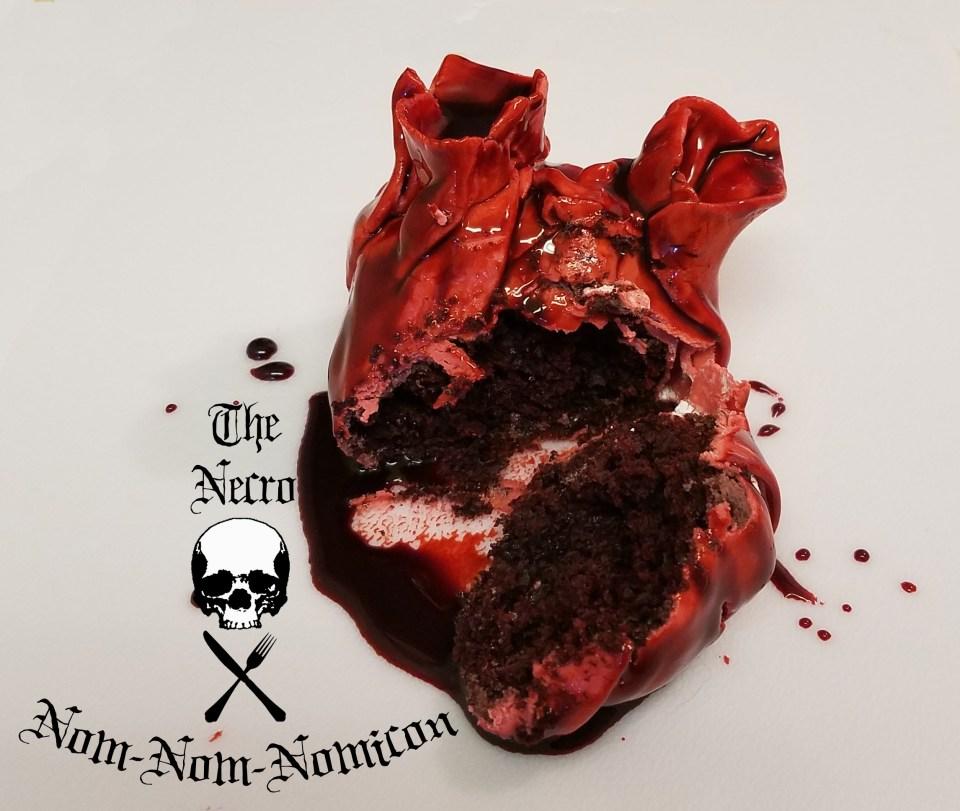 Bleeding Heart Cupcakes - Bloody Disgusting!