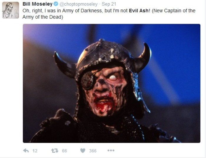 Bill Moseley Clears Up Confusion About Army Of Darkness