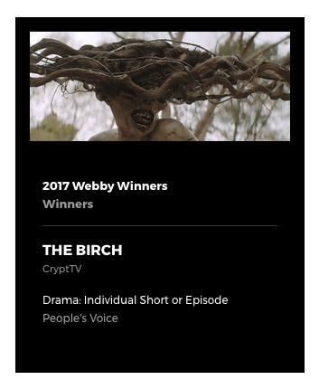 The Birch wins a Webby