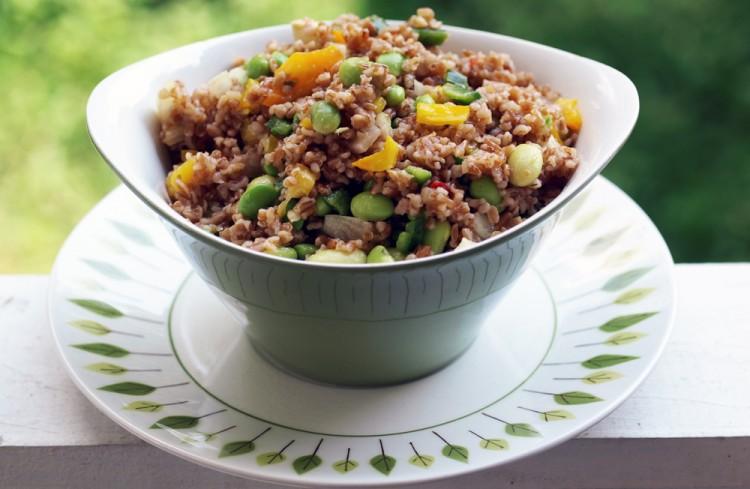 Asian Bulgur & Edamame Salad