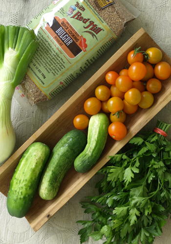 Tabbouleh Salad ingredients
