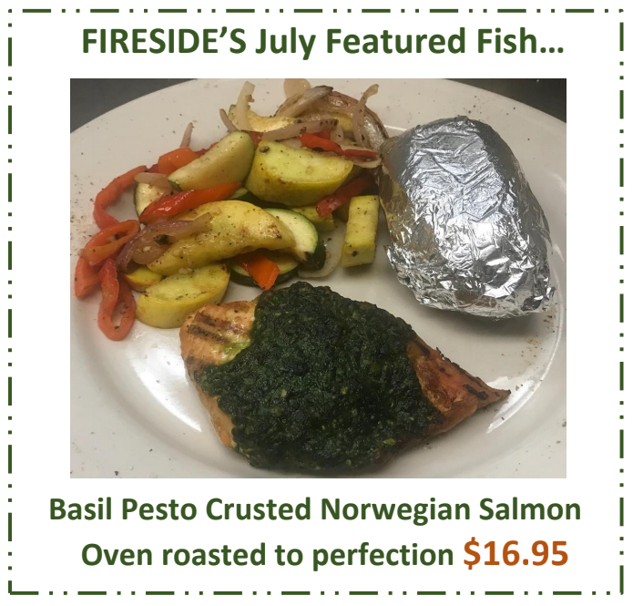 July Fish Special – Basil Pesto Crusted Norwegian Salmon