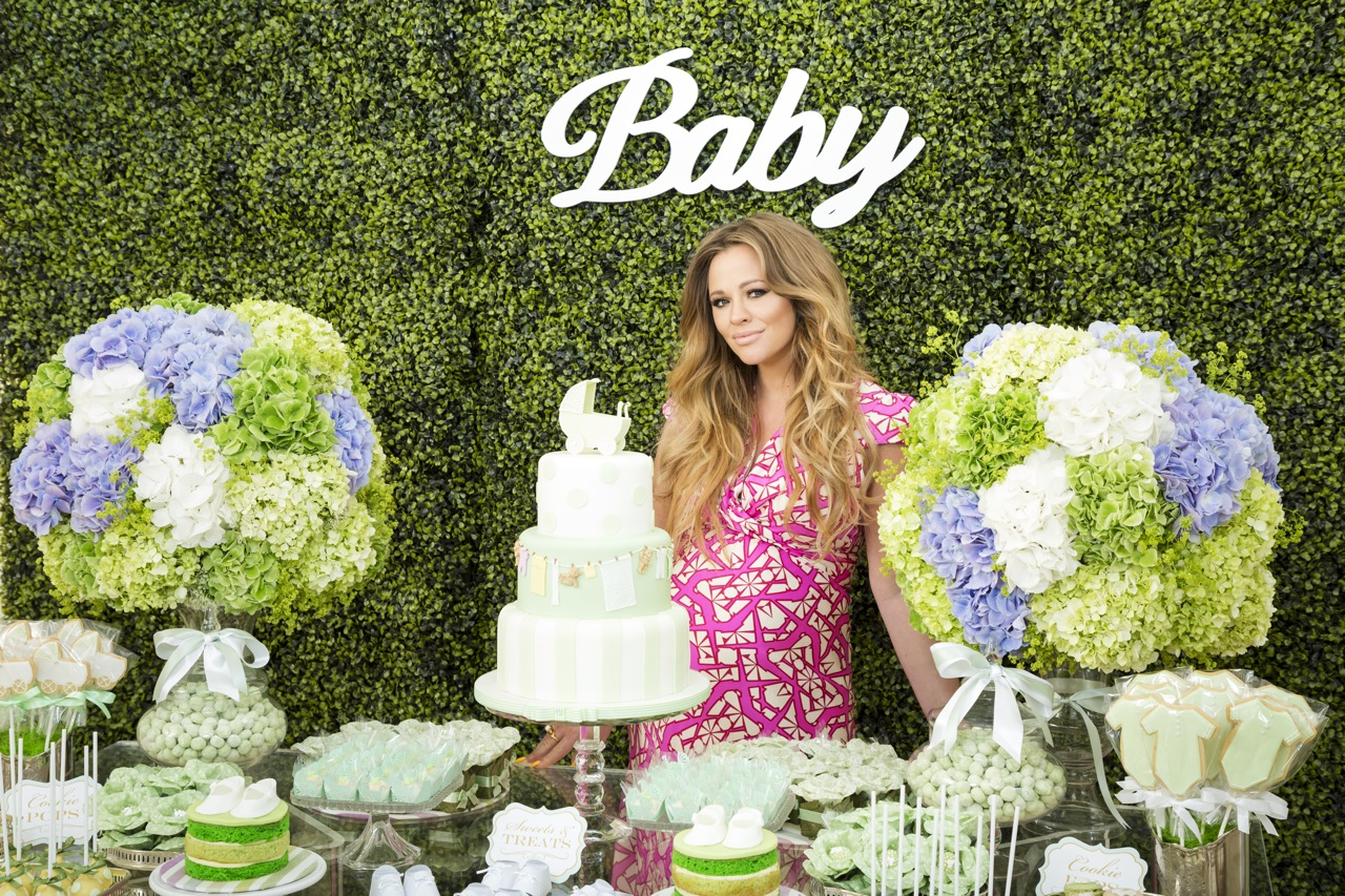 Kimberley Walsh Baby Shower Flowers by Blooms and Bows