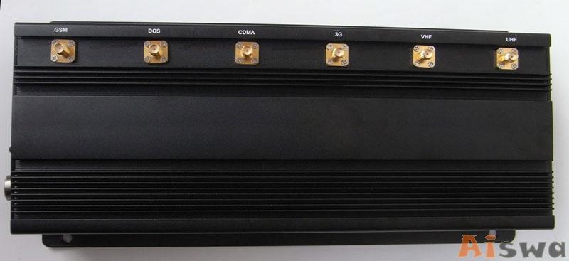 Profissional 6 Antenas com Cooler de Bloqueador De Sinal Lojack - GPS - GSM 1