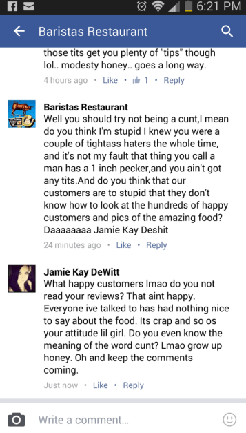 Barista's Facebook Comments 1