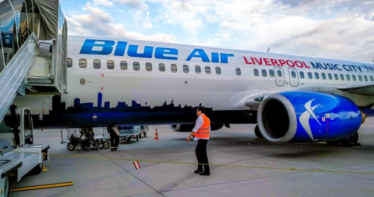 Flying on Blue Air from Cluj to Constanta, Romania