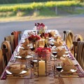 outdoor intimate dinner party tablescape