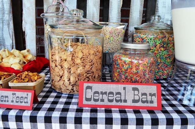 Rustic Cowboy Cereal Bar