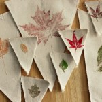 DIY Stamped Leaf Banner