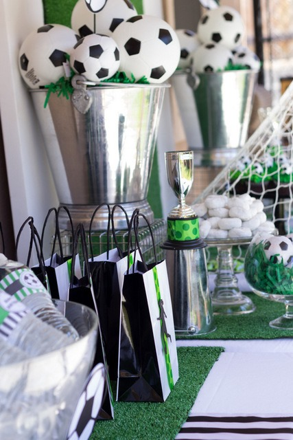 Soccer Ball Centerpieces B Lovely Events