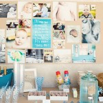 Blue Ombre Party Drink Station