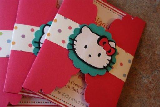 Cute Hello Kitty Invitations