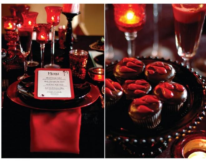 Halloween Vampire Table Setting