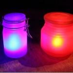DIY Neon Glow jars