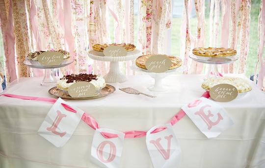 Amazing Pie Station for weddings