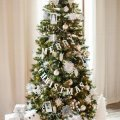 white themed christmas tree