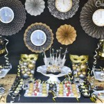 Amazing black and gold New years party