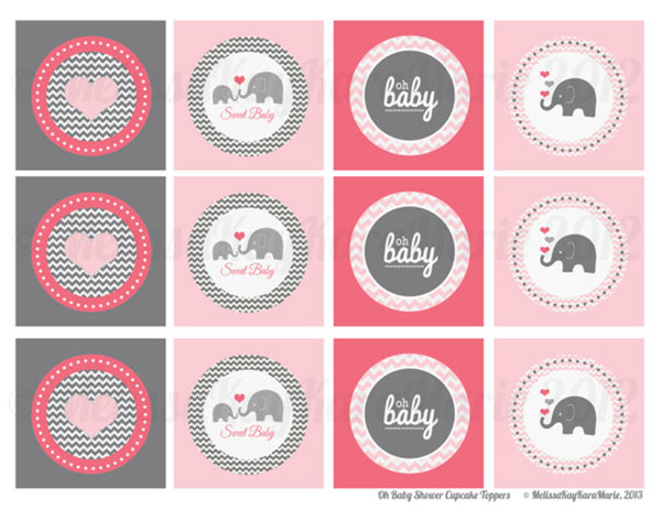 Love these girly safari baby shower printables