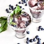 Bomb Margaritas! Roasted blueberry & basil!
