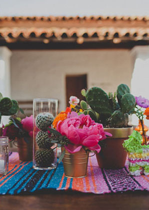 Bright Colors and Catus, perfect for a mexican wedding