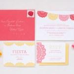 Cute Mexican themed wedding invitations