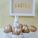 Love this Gold Marbled Easter Eggs!