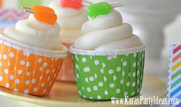 Cute Popsicle Cupcakes For A Summer Party!