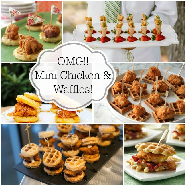 Mini Chicken Amp Waffles Brunch Foods That Rock