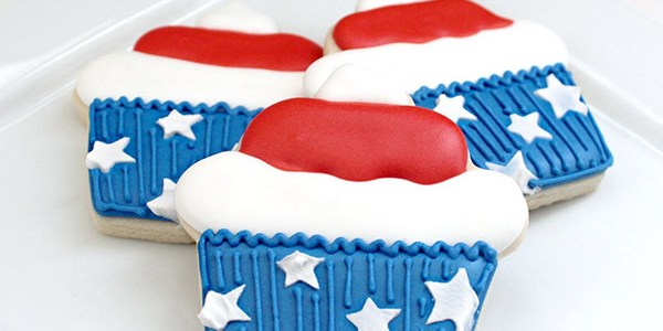 Star spangled Cupcake Cookies!
