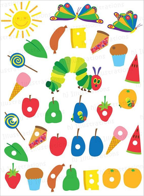 Very Hungry Caterpillar Free Printables on Cupcake Counting Worksheets For Preschoolers