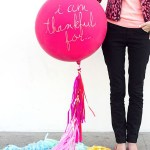 I Am thankful balloons with words