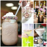 Love these Sprinkled Rim Drinks! See All Of These Cute Ideas On B. Lovely Events