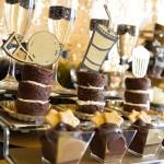Black and gold Oscar Party- Dessert Bar