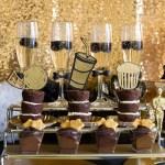 Black and gold Oscar Party- Dessert Ideas