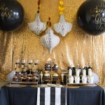 Black and gold Oscar Party Loveliness!