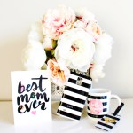 Black and white striped Mother's Day Gifts
