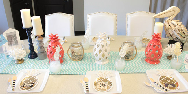 Nautical Pineapple Father's Day Tablescape