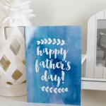 Water Color Father's Day Card from Zazzle