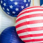 4th Of July Paper Lanterns- See more red, white and blue on B. Lovely Events