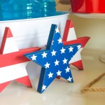 4th Of July Red white and blue Stars decor- B. Lovely Events