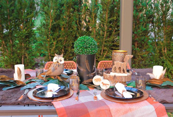 Alfresco Rustic & Woodsy Tablescape! {Blog Hop Too!}