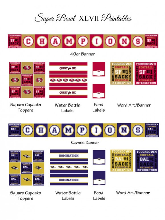 Free Super Bowl Party Printables-blovelyevents.com