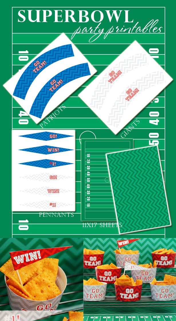 It is a graphic of Fabulous Super Bowl Printables
