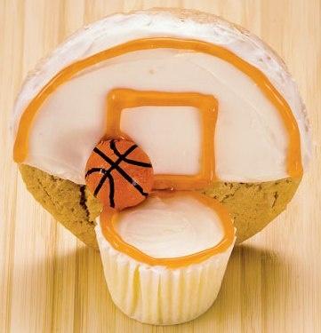 Basketball hoop cookies