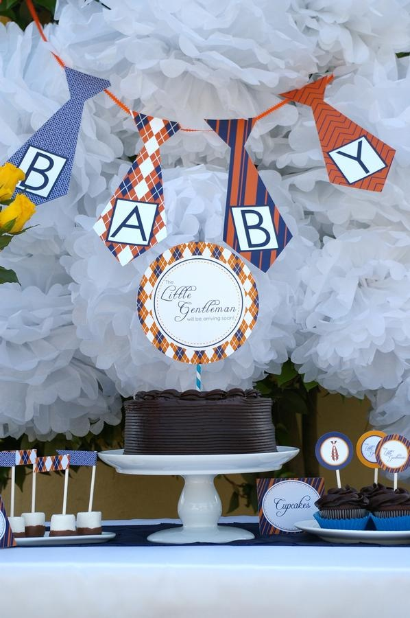 tie themed baby shower for boy