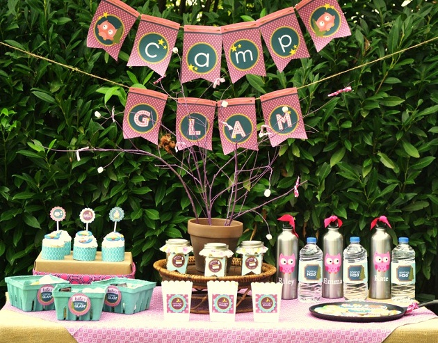 bridal shower glamping ideas