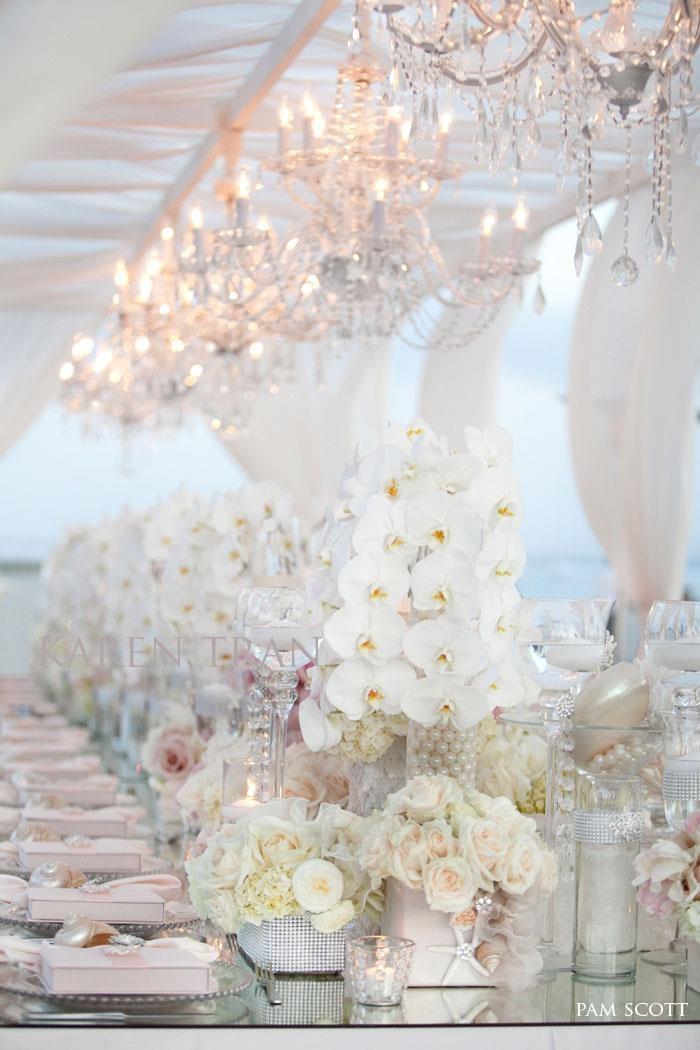 White glam elegance tablescape